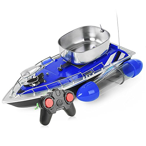 gearbest Mini RC Schiff Boot-Fischerei Bait Boat Anti Gras 200m REMOTE