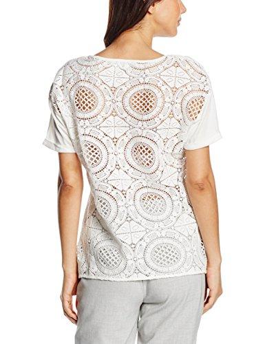 Pedro del Hierro Camiseta Espalda Guipur, T-Shirt Femme ecru (IVORY)