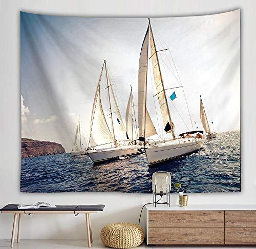 Axiba Tapices, Tapiz de Vela mar Nave Tapiz Amortiguador 150 * 130cm