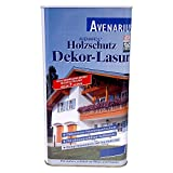 Avenarius Holzschutz Dekor-Lasur Farbwahl 0,75 Liter, Farbe:Weiß