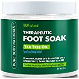 Foot Soak With Tea Tree Oil And Epsom Salt - 20 Oz - Tea Tree Essential Oils Foot Bath Fights Fungus & Bacteria...