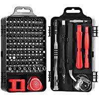 Electronics Screwdriver Chromium Vanadium Steel Repair Tool Kit Set,electronics Repair Tool Kit 115 In 1 Precision Bits With Carry Case for Fixing Computer/smartphone/camera/watch