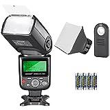 Neewer Kit di Flash Speedlite TTL 750II per Nikon, con Wireless Telecomando a Infrarossi, Batteria AA, Diffusore , per Nikon D7200 D7100 D7000 D5500 D5300 D5200 D5100 D5000 D3300 D3200 D3100