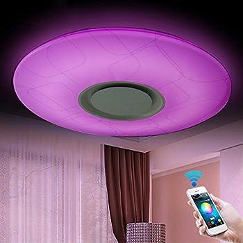 LED Plafonnier Hemlo - Luminaire changeur de couleur avec ...