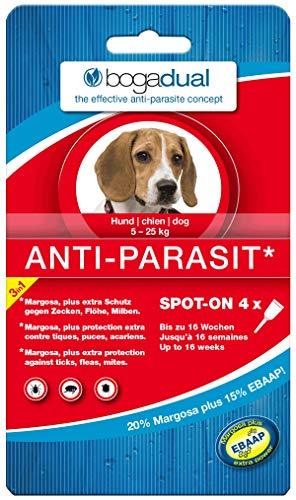 BOGADUAL UBO0540 Anti-Parasit Spot-On Hund, 5-25 kg, 4 x 1.5 ml