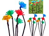 FiNeWaY@ LIVIVO New Set Of 3 Coloured Solar 15 Led Flower Rose Floral Tree Solar Outdoor Garden Led Lights Ideal Outdoor Use, Decorate Your Garden, Paths Or Borders.