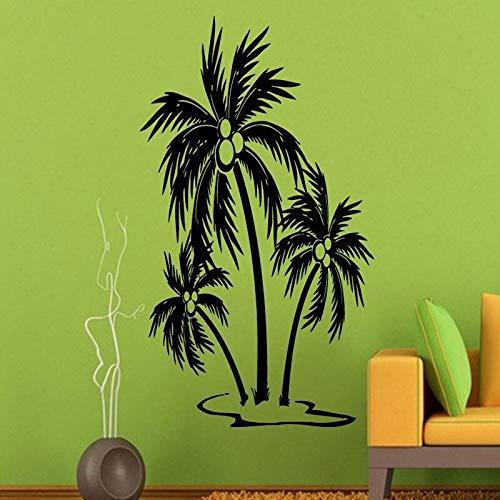 Palm Tree Wandtattoos Strand Bäume Bad Dekoration Wandaufkleber Wasserdichte Kunst Wohnkultur Vinyl Wandbilder 103CMX59CM