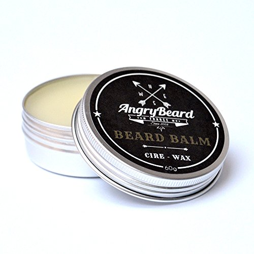 Baume à barbe (60ml) senteur MENTHE | ✪✪ AngryBeard ✪✪ Soin pour homme | Aide à sculpter votre barbe et réduit les frisottis, adoucit la barbe, calme les démangeaisons et traite l'acné, crème nutritive et adoucissante pour la barbe | ATTENTION STOCK LIMITE | ❤️ 100% Satisfait ou remboursé ❤️
