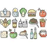 Cartoon Gemüse Burger Bier Wandaufkleber für Kinderzimmer Schlafzimmer Wohnzimmer Kühlschrank Aufkleber