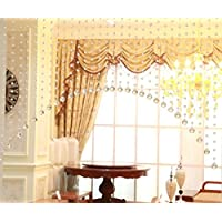 5 x 1m Puerta cortina Cristal girland Crystal Clear Acrylic Bead Garland esterilizable boda partido decoración DIY Decoración colgante perla cortina