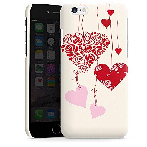 Apple iPhone 5s Housse étui coque protection C½urs Amour Amour Cas Premium brillant