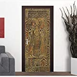 Türtapete Foto tapete 77X200 Cm 3D Ägypten Pharaonen Malerei Tür Aufkleber Wohnkultur Selbstklebende Abnehmbare Aufkleber Schiebetür Wandbild Tapete