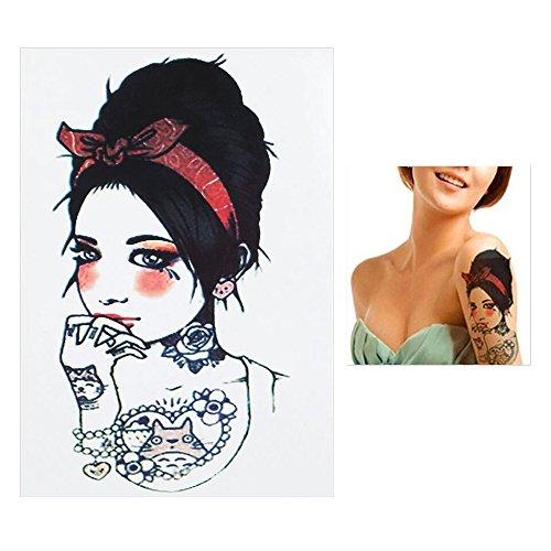 Tatuaggi temporanei temporary tattoo tatuaggio falso-pin up fiocco di