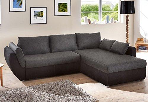 expendio Ecksofa Couch Tifon 272x200cm, schwarz, Bettfunktion Polsterecke Schlafsofa Sofa