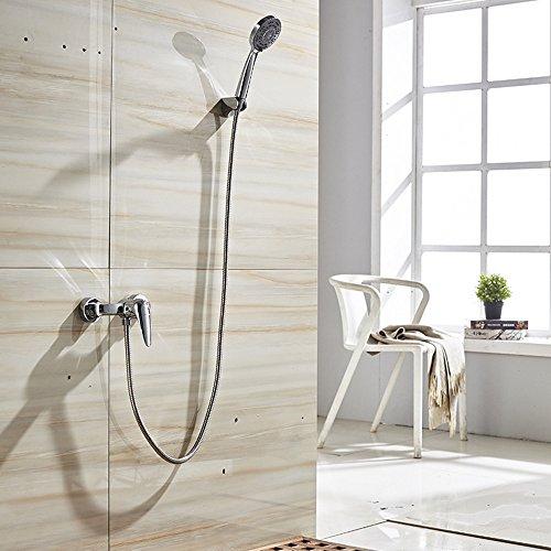 Bijjaladeva Wasserhahn Bad Wasserfall Mischbatterie WaschbeckenMessing Armaturen Spültischarmaturen Einfache Dusche bündige Montage Lift Handbrause ASB Dusche Sprinkler-und kaltem