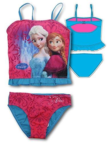 (Die Eiskönigin - Frozen - Bikini zweiteiligen Badeanzug für Mädchen - 910-421 [Azzurro - 4 anni - 104 cm])