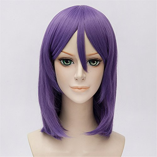 LanTing Cosplay Perücke Naruto Konan Purple Perücke Corta Styled Frauen Cosplay Party Fashion Anime Human Costume Full wigs Synthetic Haar Heat Resistant (Kostüm Konan Cosplay)