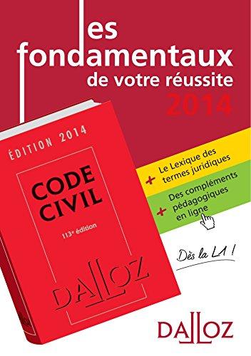 les-fondamentaux-de-votre-russite-code-civil-2014-lexique-des-termes-jurid-2014-bonus-pdag-dalloz-tudes-droit-civil-l1-2013-2014