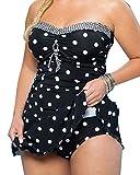 Gladiolus Mujer Tankini Push Up Punto Bikini Trajes De Baño Beachwear Swimsuit Swimwear Bañadores Dos Piezas Talla Alta Negro 3XL