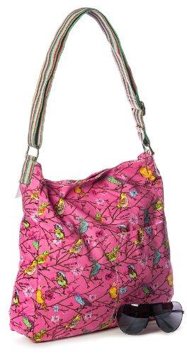Big Handbag Shop, Borsa a tracolla donna One Beige Claro
