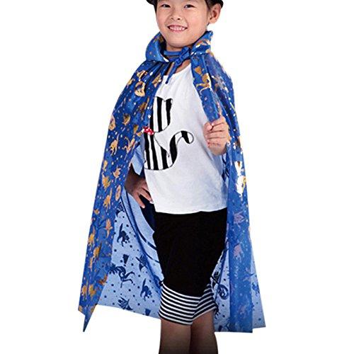 SuperSU Halloween Kostüm Goldener Kürbis Schal Frauen Neuheit Kürbis Print Cape Schal Deko Poncho Kinder Jungen Mädchen Neuheit Feenhafte Cosplay Karneval Schal Wrap Kostüm Zubehör