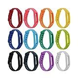 fit-power Xiaomi Band Colorful Ersatz Armbänder für Xiaomi (ohne Tracker), Pack of 12