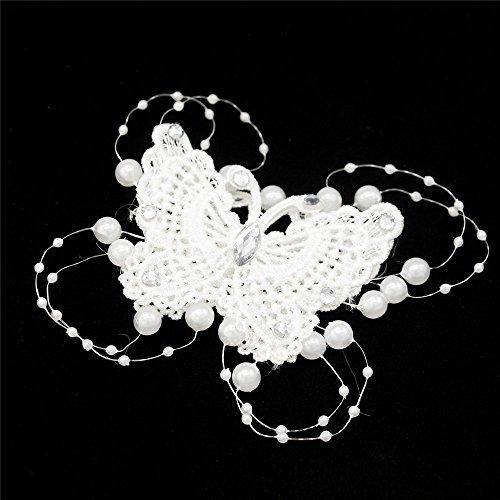 MAXGOODS 4 Stk Vintage Schmetterling Hochzeit Haarspangen mit Simulierte Perle Braut Kopfschmuck Brautjungfer Zubehör (Mutter Des Bräutigams Kleider)