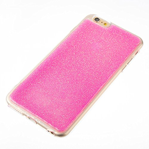 Soft Flexible Silikon TPU Gel Cover Case [Anti-Kratzer] Glänzende Glitter 360 ° Full Coverage Back Cover [Shockproof] für iPhone 6 Plus & 6s Plus ( Color : Green ) Rose
