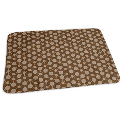 Texture Solid Chocolate Brown Tan Beige Khaki Neutral Spots Polka Dots Math Fall Quilt Coordinate Home Decor Baby Portable Reusable Changing Pad Mat 19.7x 27.5 inch