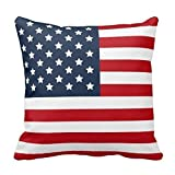 Best Malouf Latex Pillows - CoolDream Cotton Patriotic American Flag Red White Blue Review
