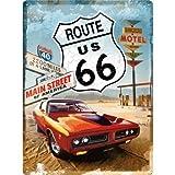 Nostalgic-Art 23123 US Highways - Route 66 Red Car,