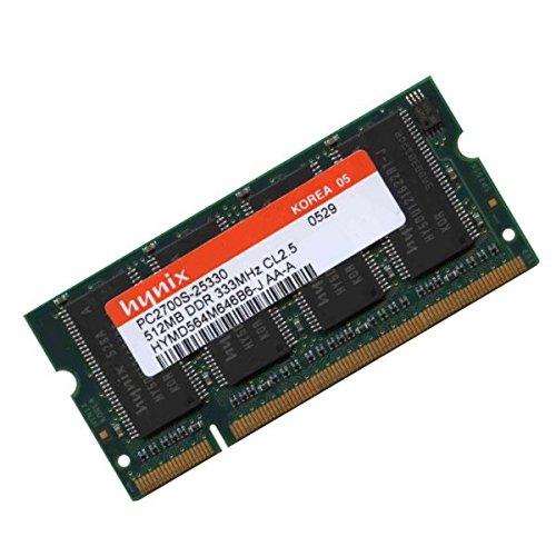 PC Notebook RAM Speicher SODIMM Hynix HYMD564M646A6-J (512 MB, DDR 333Mhz 2700S CL2.5 AA-PC