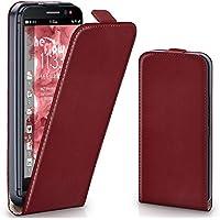 Cover OneFlow per BlackBerry Z30 Custodia con magnete | Flip Case Astuccio Cover per cellulare apribile | Custodia cellulare Cellulare protezione Paraurti Cover rotettiva con guscio MAROON-RED Z30