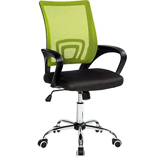 TecTake Silla de Oficina giratoria con Soporte Lumbar sillón Ejecutivo Silla de...