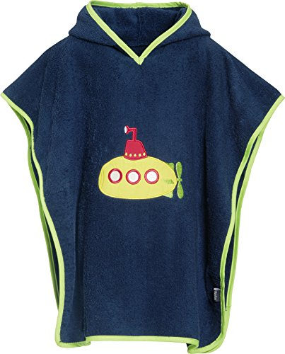playshoes-jungen-bademantel-frottee-poncho-badeponcho-u-boot-mit-kapuze-blau-marine-11-one-size-hers