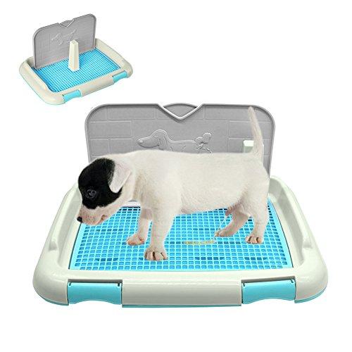 Zantec Bandeja de retretes portátiles para mascotas con bandeja de inodoros con orinal de columna