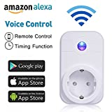 WlAN Steckdose, COLEMETER Intelligente WiFi Steckdose Smart Plug funktioniert mit Amazon Alexa (Echo...