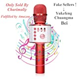 Bluetooth Karaoke Mikrofon, NASUM,tragbare drahtlose Mikrofon mit Lautsprecher für Erwachsene und Kinder für Sprach- und Gesangsaufnahmen,kompatibel mit Android/IOS, PC oder Alle Smartphone