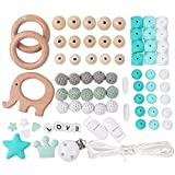 Perles de Silicone de Dentition Diy Bébé Teether Kit de Perles de Silicone Perles...