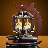 Creativo cremagliera del vino Vetrina vetrinetta capovolto pensile Coppa in mogano Decorazione di alta qualità Bottiglia Porta bicchiere Vino vassoio alto Vassoio Soggiorno Stand