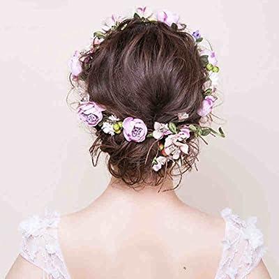 Couronne de fleurs Couronne de mariée Couronne accessoires de cheveux de mariage Voyage de lune de miel Accessoires de cheveux de plaque Accessoires de mariage