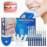 Kit de blanchiment des dents, Home Blanchiment des dents Gel Care avec kit de blanchiment professionnel Dispositif de blanchiment des dents pour dents blanches, y compris 10 pcs Gel de soins dentaires