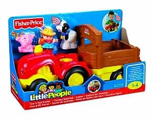 Fisher Price - X2158 - Jouets d'éveil - Little People - Grand Véhicule - Tracteur