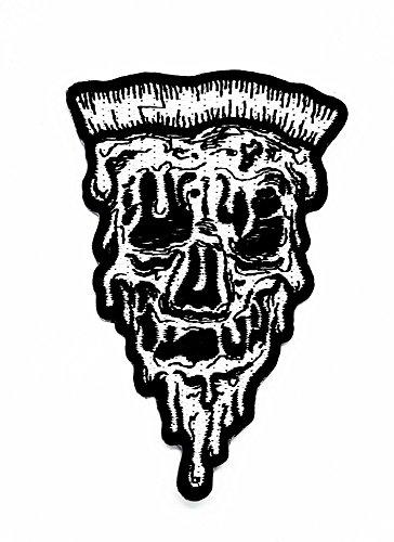 rabana Pizza The Demon Skull Cartoon Kids Kinder Cute Animal Patch für Heimwerker-Applikation Eisen auf Patch T Shirt Patch Sew Iron on gesticktes Badge Schild (Pizza Kind Kostüme)