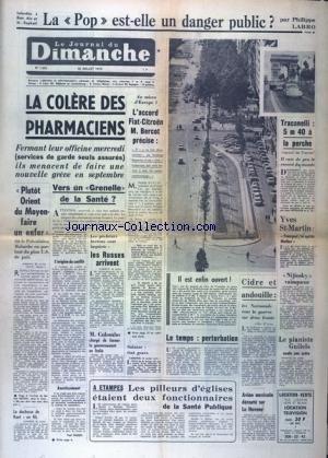 JOURNAL DU DIMANCHE (LE) [No 1235] du 26/07/1970