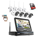 SANNCE 4CH Wireless Camera System 1080P HD NVR Recorder w/4 x 720P Wifi