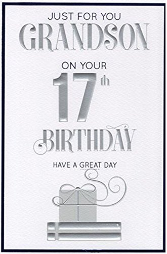 Special Grandson 17th Birthday Card