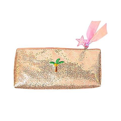 Kentop élégant Paillettes Trousse Maquillage Cosmétique Sac pochette de rangement Sac à main pour femmes filles