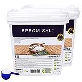 NortemBio Sel d'Epsom, Source concentrée de Magnésium, Sel 100% Naturel. Bain et Soins Personnels.