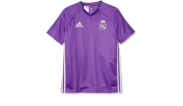 e39404ccd adidas Real Madrid 2016 Training Shirt Junior  Amazon.co.uk  Sports    Outdoors